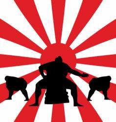 Sumo fighting vector