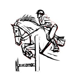 Show jumping vector