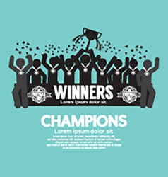 The winner cup soccer or football champions vector