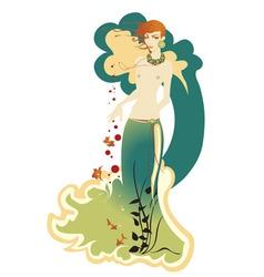 Beautiful mermaid vector