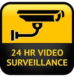Video surveillance sign cctv sticker vector