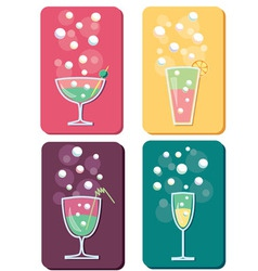 Different cocktails vector