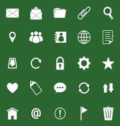 Mail icons on green background vector