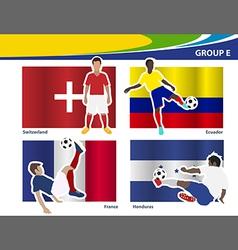 Soccer football players brazil 2014 group e vector