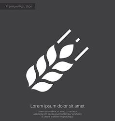 Agriculture premium icon white on dark background vector