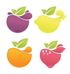 Fruit and berry vector