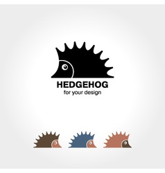 Hedgehog icon vector
