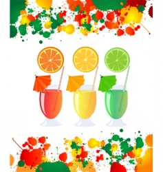 Summer refreshments vector