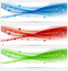 Set of swoosh speed wave abstract web headers vector
