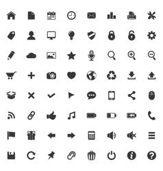 Set of icons for web and mobile application vector