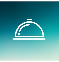 Food cover thin line icon vector
