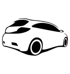 Car silhouette modern vector