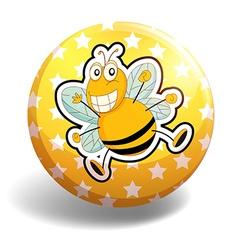 Bee badge vector