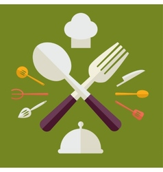 Tableware serving utensils icons set great for any vector