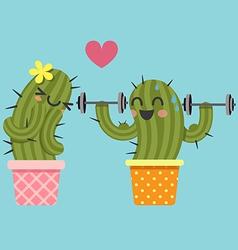 Weight cactus vector