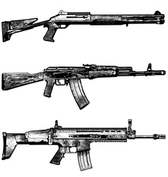 Combat weapons 1 vector