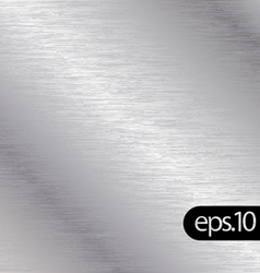Brushed chrome metal background texture vector