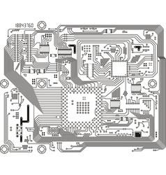 Electronic industrial modern circuit board vector
