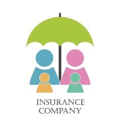 Insurance company emblem vector