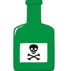 Green poison bottle vector