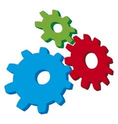 Growing gears vector