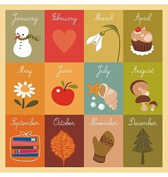 Calendar for children vector