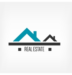Real estate design template vector