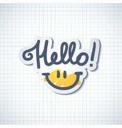 Hello lettering vector