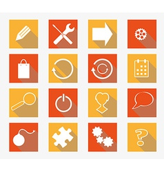Collection of flat icons vector