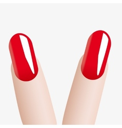 Fashion colours nail victory vector