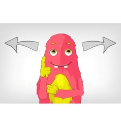 Funny monster thinking vector