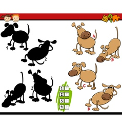 Education shadows game cartoon vector