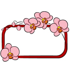 Orchid banner vector