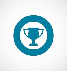 Cup icon bold blue circle border vector