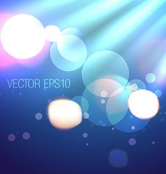 Creative background of bokeh lights vector