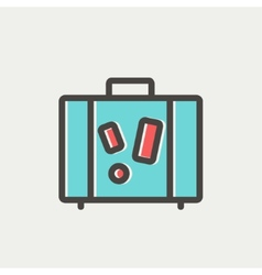 Travel luggage thin line icon vector