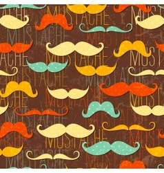 Mustache seamless pattern vector