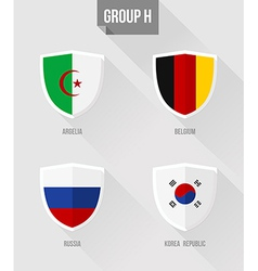 Brazil soccer championship 2014 group h flag signs vector