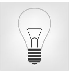 Light bulb icon in the background vector