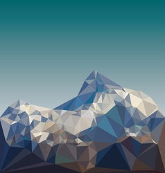 Low poly mountain landscape vector