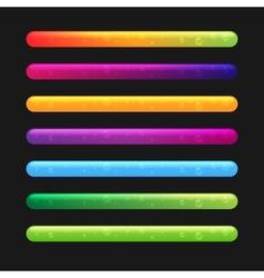 Progress bar set for games set 2 vector