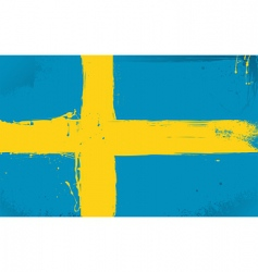 Swedish flag grunge style vector