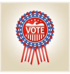 American patriotic election label vector