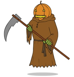 Death angel pumpkin vector