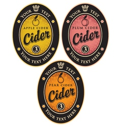 Labels for cider vector