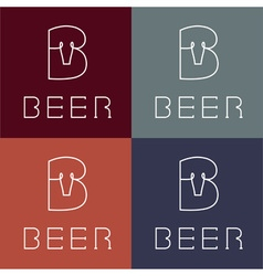 Beer monogram vector