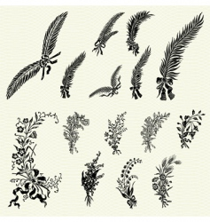 Ornate floral ornaments vector