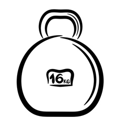 Cartoon metal weight for sports eps10 vector