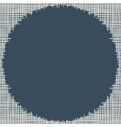 Abstract canvas hole grungy frame vector