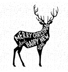 Hand drawn christmass deer vector